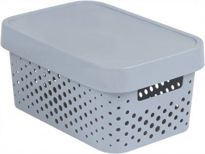 INFINITY DOTS box 4,5L - šedý