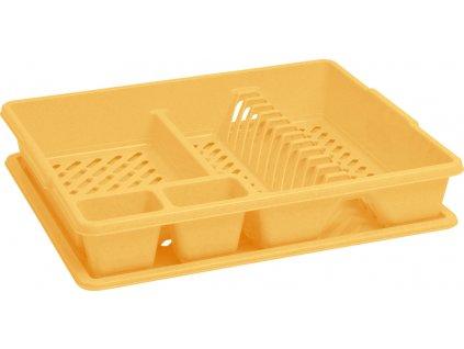 Odkapávač s podnosem BIG - žlutý