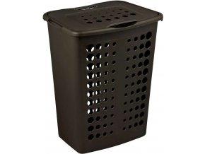 koš na prádlo - hnědý VICTOR 40L