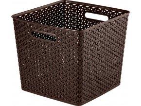 CURVER úložný box MY STYLE SQR box - tm. hnědý