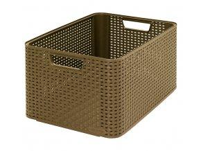 STYLE box - L- kávový