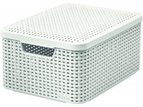 STYLE box s víkem - M - krémový