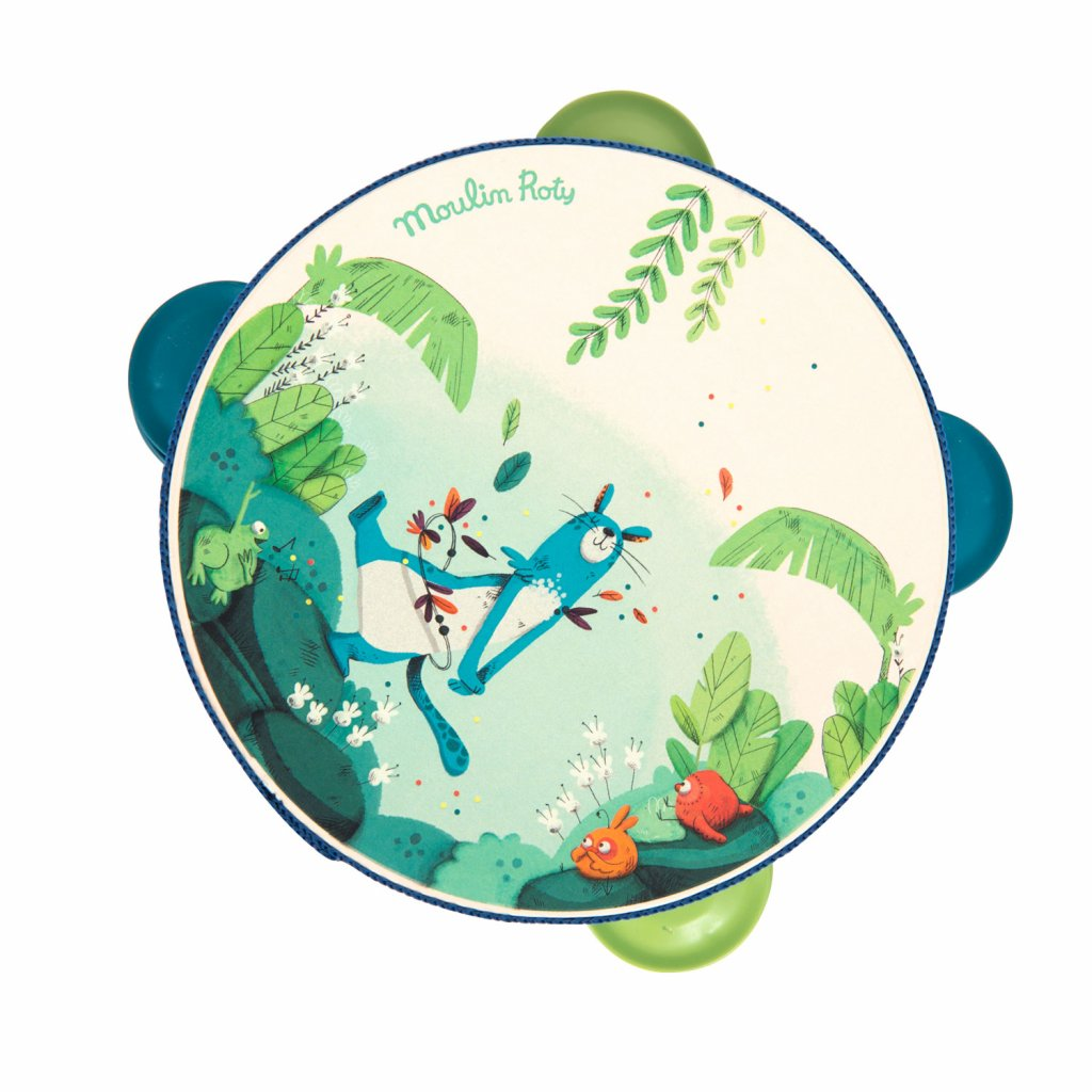 Tamburina-zelena-z-kolekce-jungle Moulin Roty