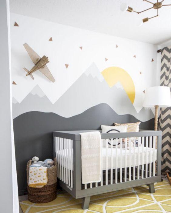 Dětský pokoj s letadlem