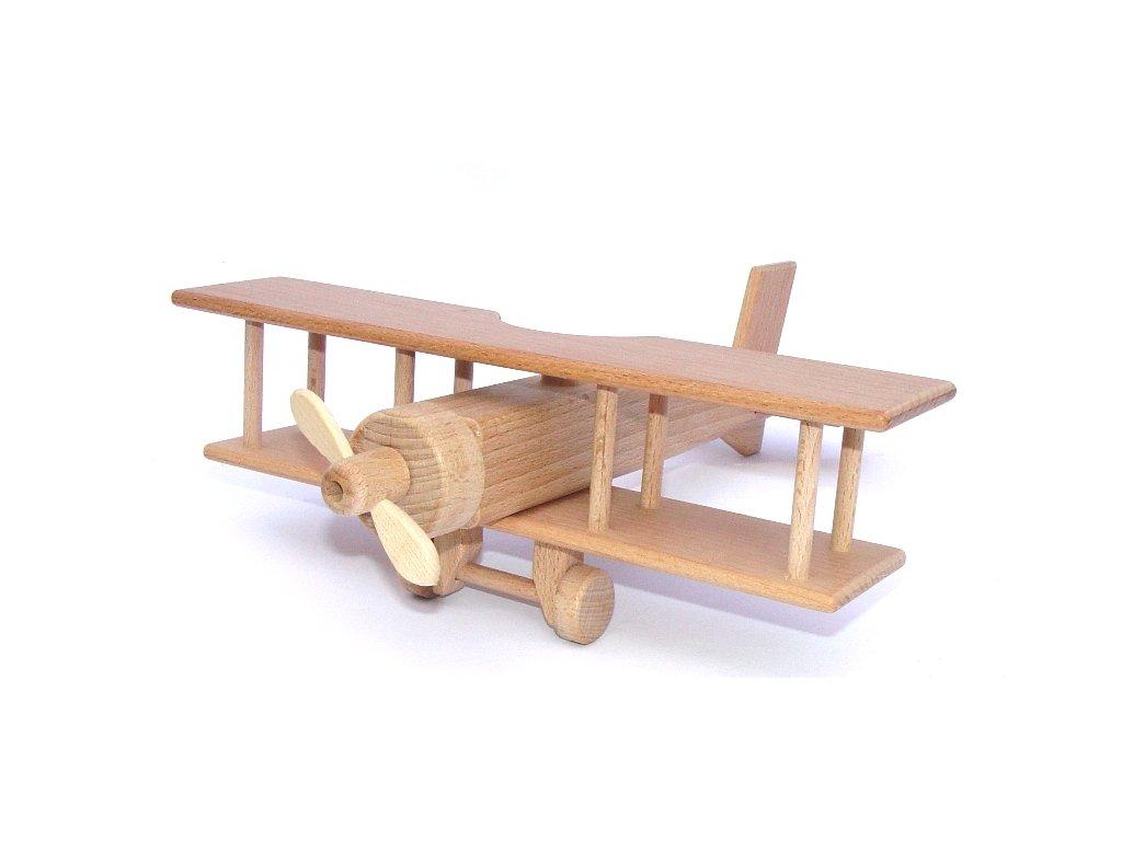 Dřevěná hračka dvouplošník Ceeda