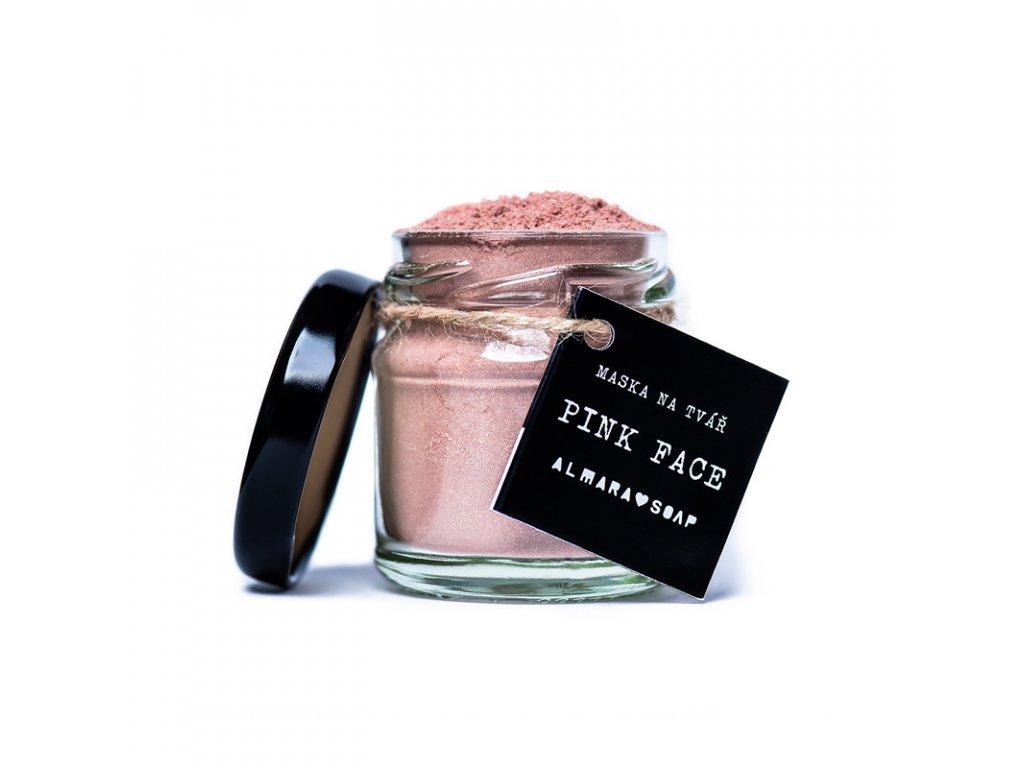 Pleťová maska Pink Face Almara Soap