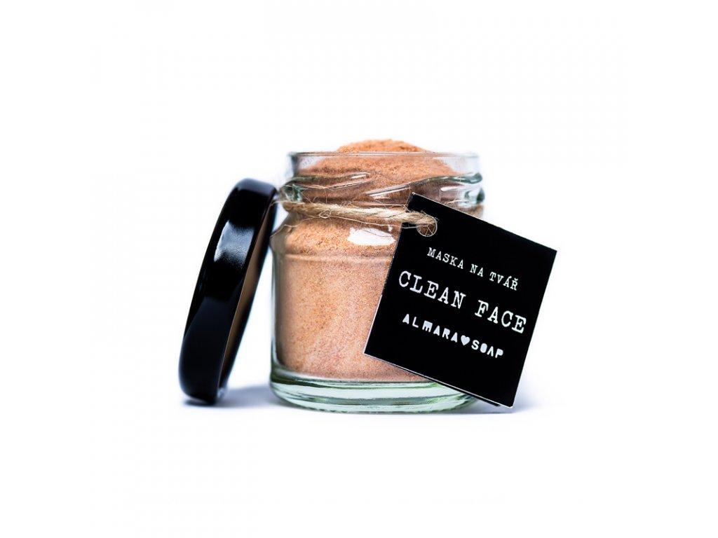 Pleťová maska Clean Face Almara Soap