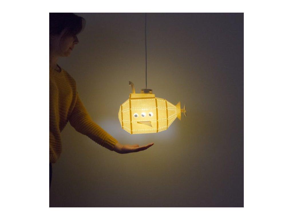 Papírová origami lampa ponorka Owl paperlamps