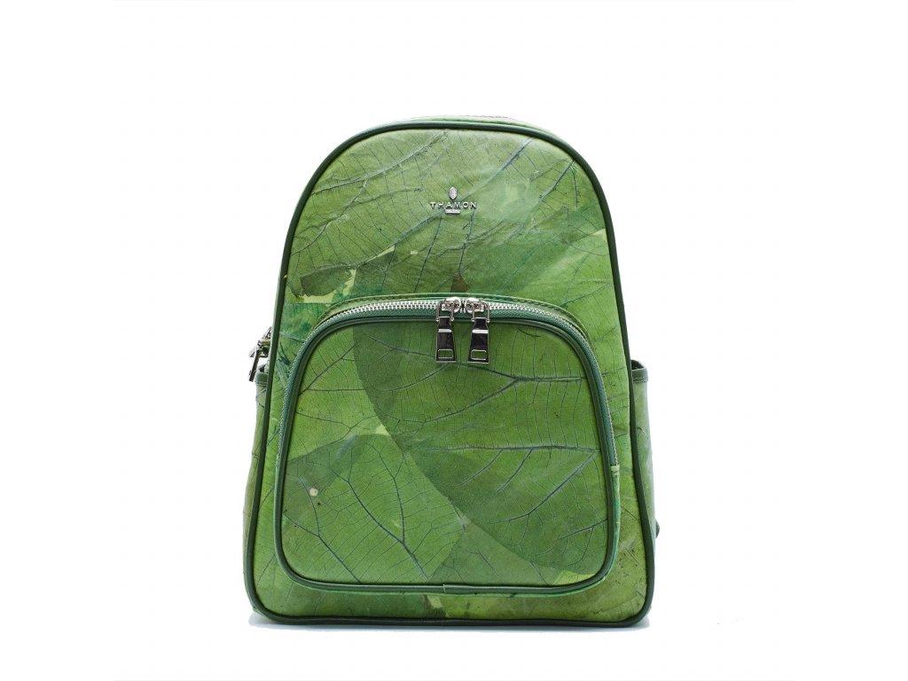 Leaf backpack Green leaf leather THAMON 1800x1800