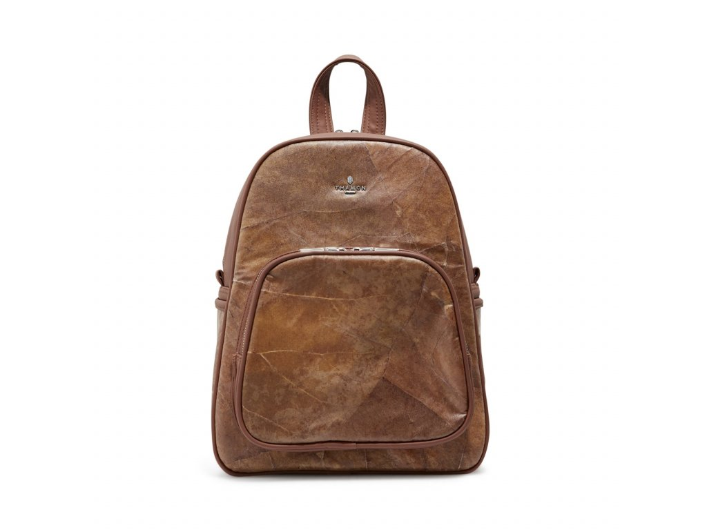 Backpack Brown leaf Thamon front 1800x1800