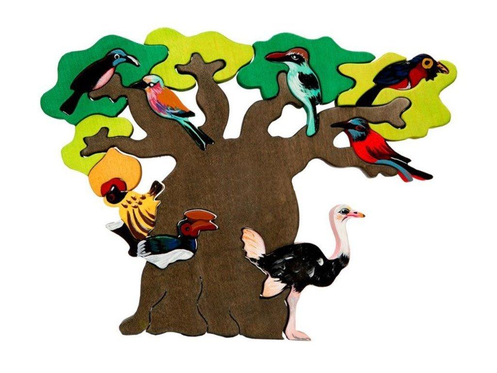 fauna drevene puzzle ptaci strom afrika 0.jpg.big