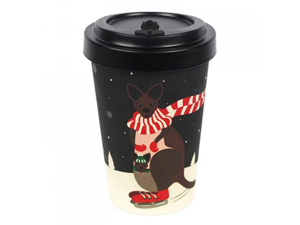 woodway opakovane pouzitelny kelimek na kavu z prirodniho materialu bambus zelenadomacnost kangaroo