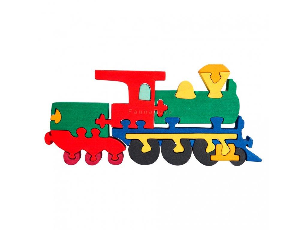 Dřevěné vkládací puzzle mašinka Ceeda