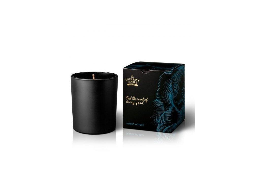 Vonná svíčka v černém skle jasmínový zázrak The Greatest Candle