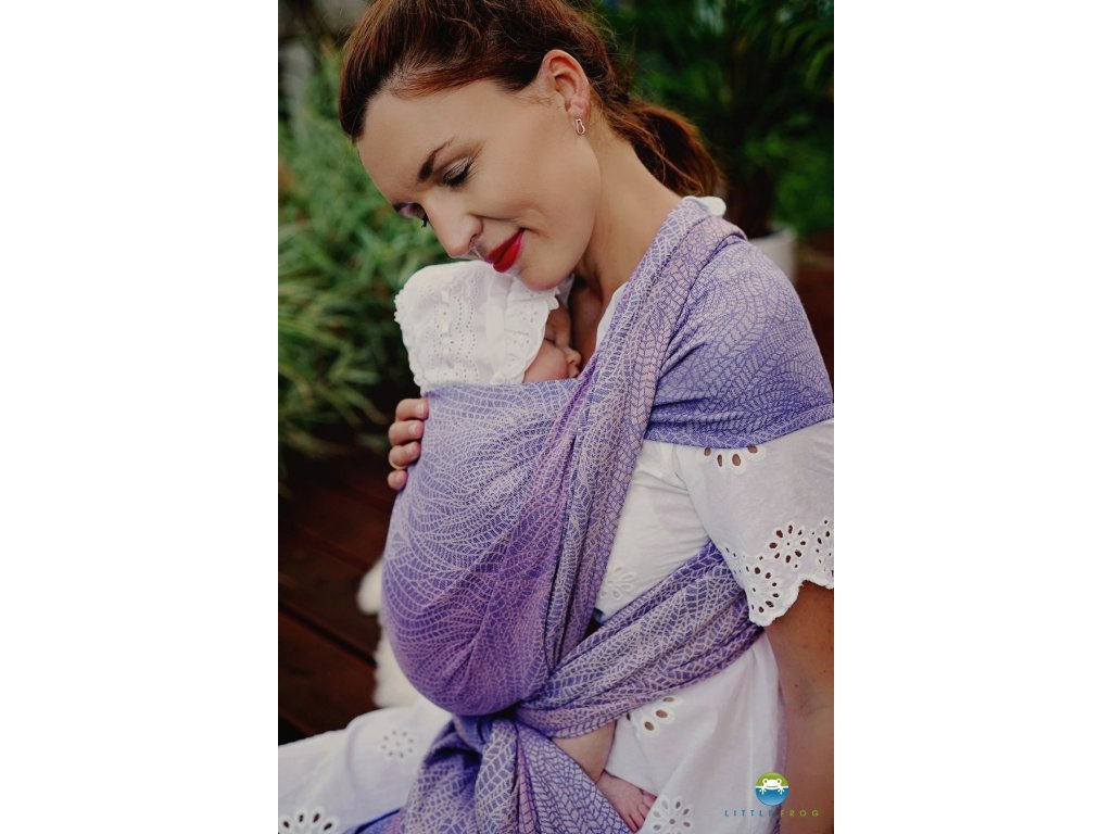 eng pl Little Frog jacquard wrap Lilac Wildness size 6 4 6 m 7779 3