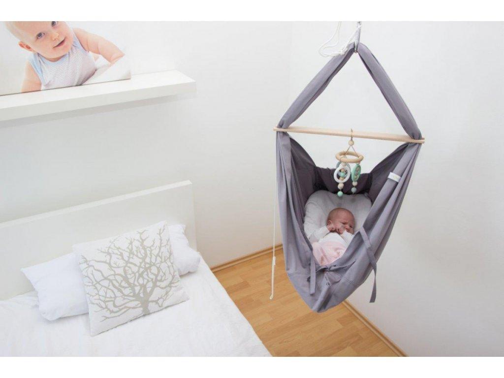 Houpačka pro miminko šedá Hojdavak
