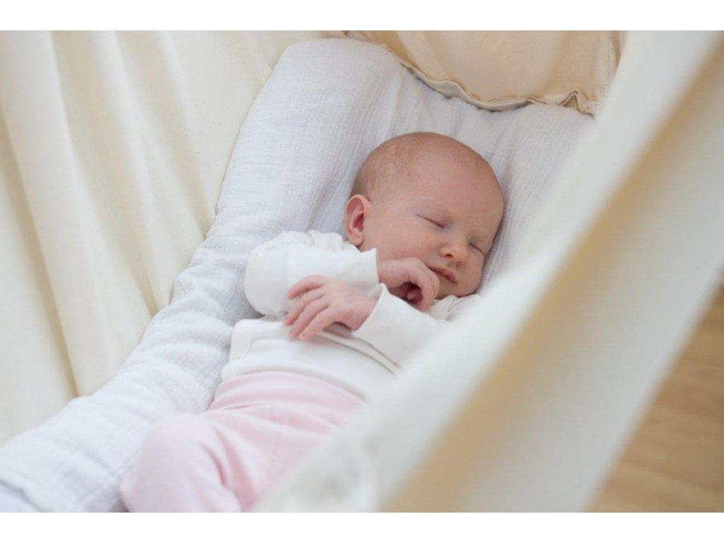 Houpačka pro miminko krémová BIObavlna Hojdavak