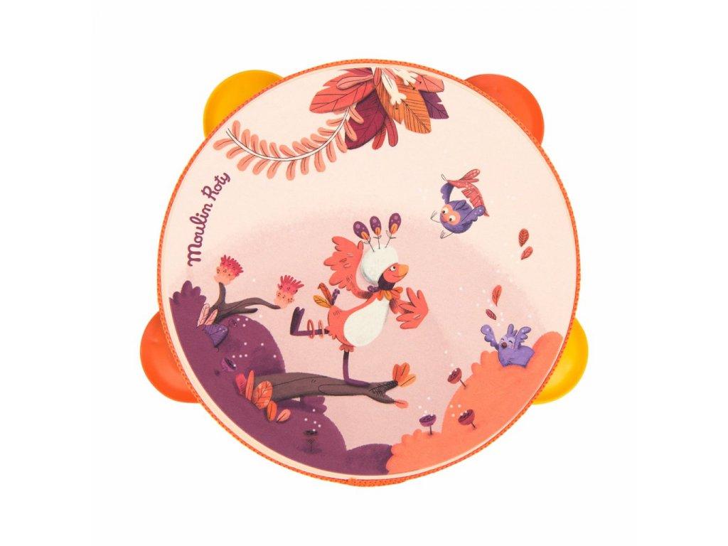 83377 tamburina ruzova z kolece jungle