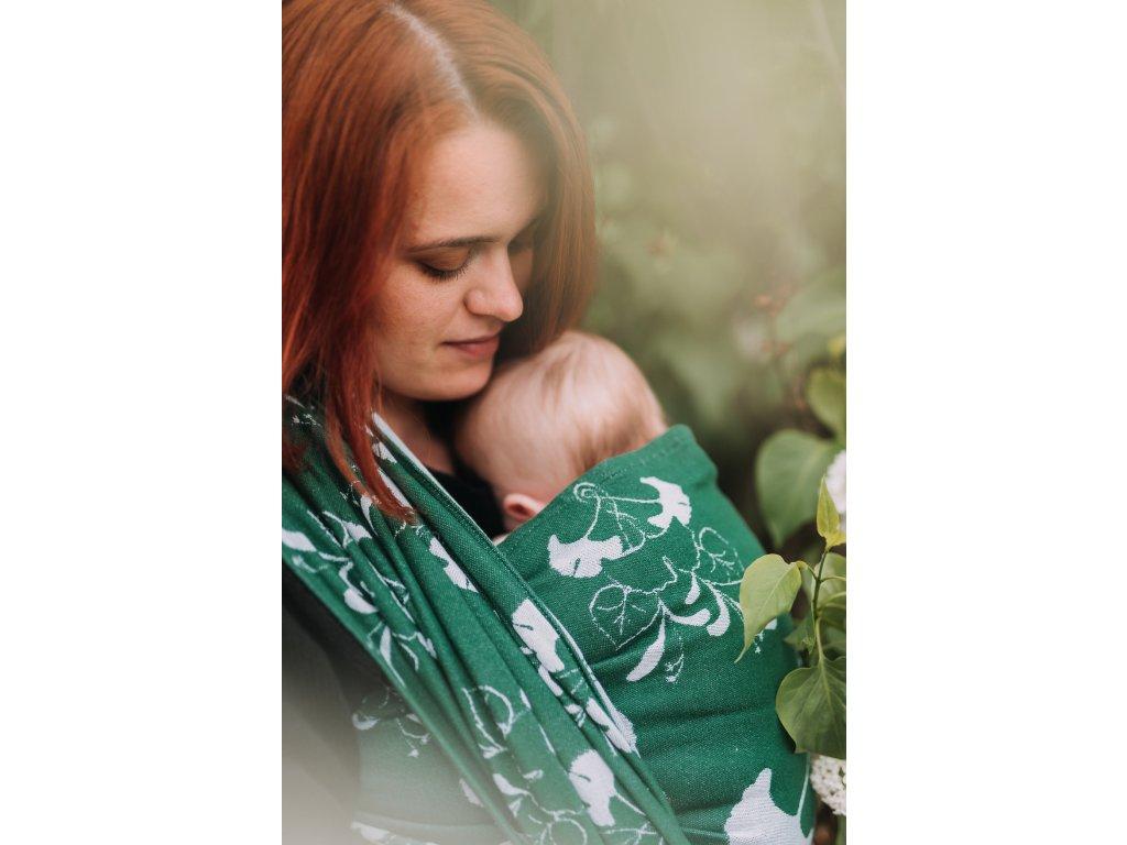 Šátek na nošení dětí Green Ginkgo Garden Carrier