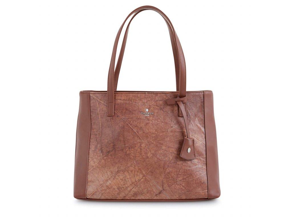 Brown tote bag brown leaf letaher THAMON psd e5f52968 a3f7 44be 8ad8 7bf5b5e0f665 1800x1800