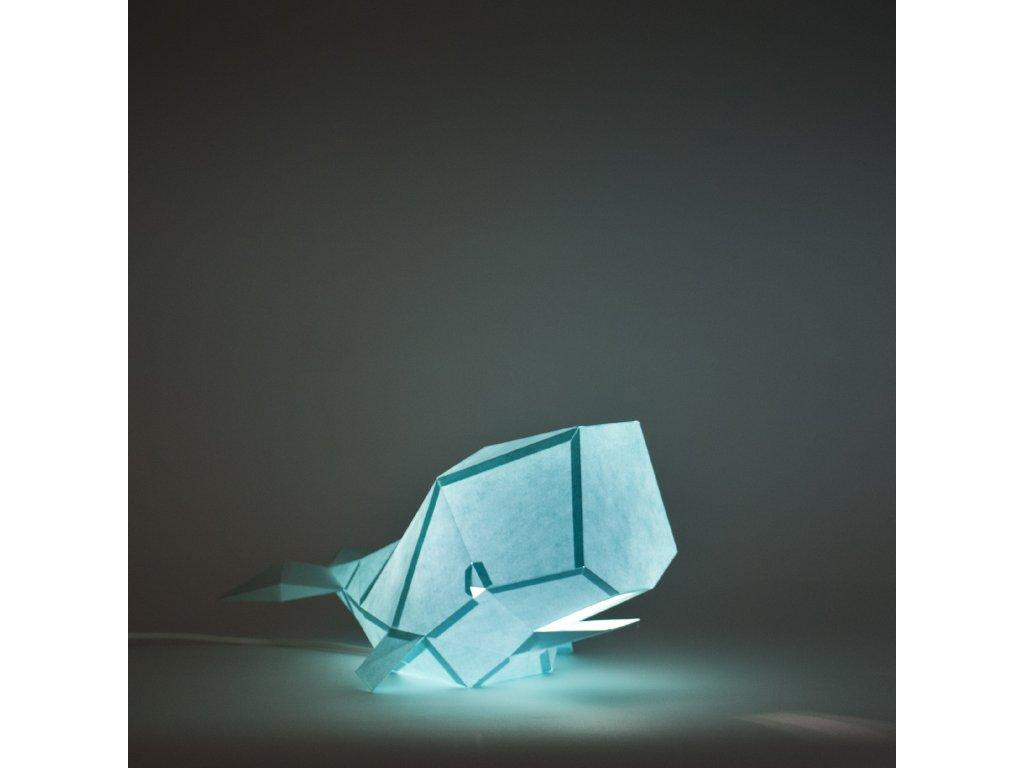 Papírová origami lampa velryba Owl paperlamps