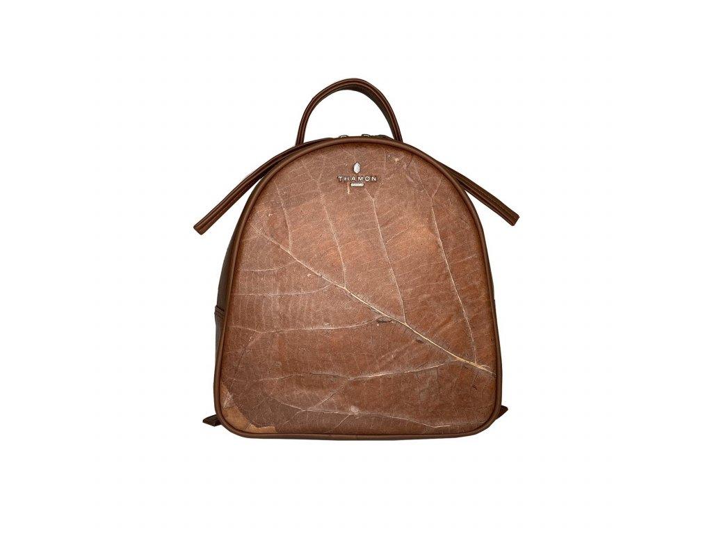 Rachel backpack brown leaf leather THAMON front 3194e33d 4ddf 4e05 8b7e 1d96eefa4e28 1800x1800
