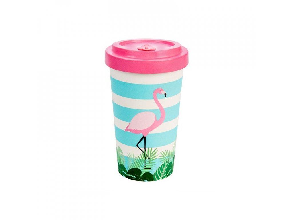 woodway opakovane pouzitelny kelimek na kavu z prirodniho materialu zelenadomacnost flamingo