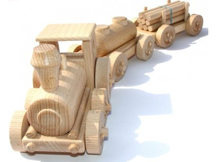 Dřevěná hračka nákladní vlak Ceeda