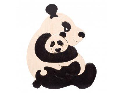 Dřevěné vkládací puzzle panda Ceeda