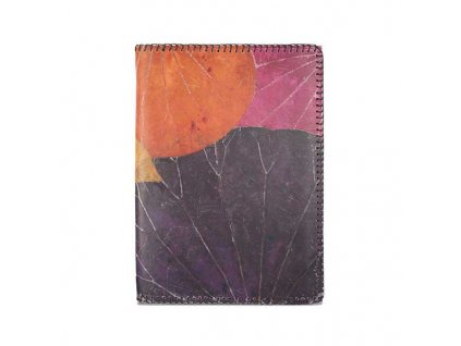 Real leaf lotus notebook a5 purple orange 1