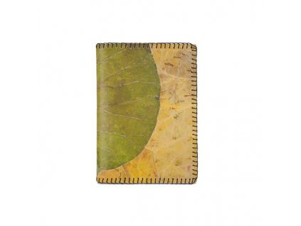Real leaf lotus notebook green yellow 1