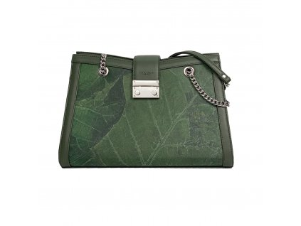 Green Emma shoulder bag vegan leather Thamon product front 1800x1800
