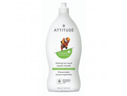ATTITUDE Nature dishwashing liquid greenapple basil hypoallergenic 13174 1800x1800