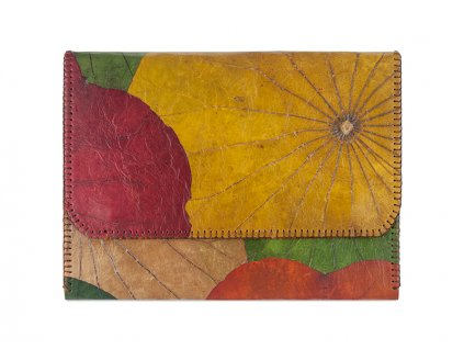 Real Leaf Lotus Clutch iPad Case Front
