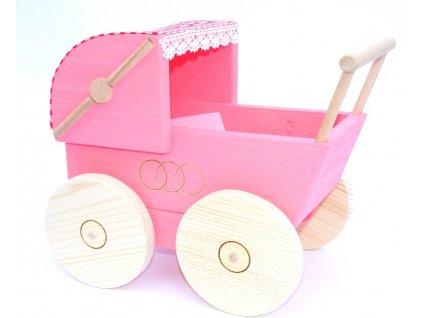 Dřevěná hračka kočárek pro panenku Ceeda