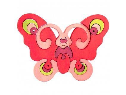 Dřevěné vkládací puzzle motýl Ceeda
