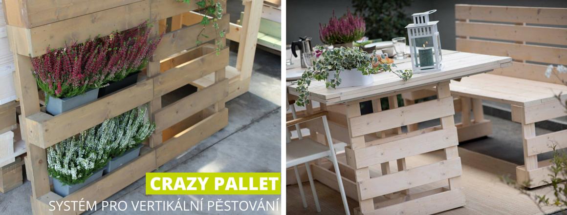 Crazy pallet - květináče do palet pro vertikální pěstování
