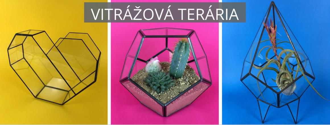 Vitrážová terária - floraria