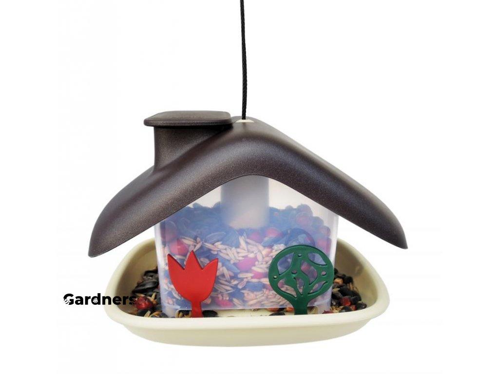 Krmítko pro ptáky Domek - hnědá