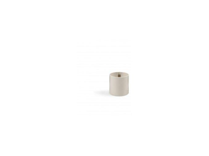 Magnetický květináč CYLINDER 6cm, slonová kost