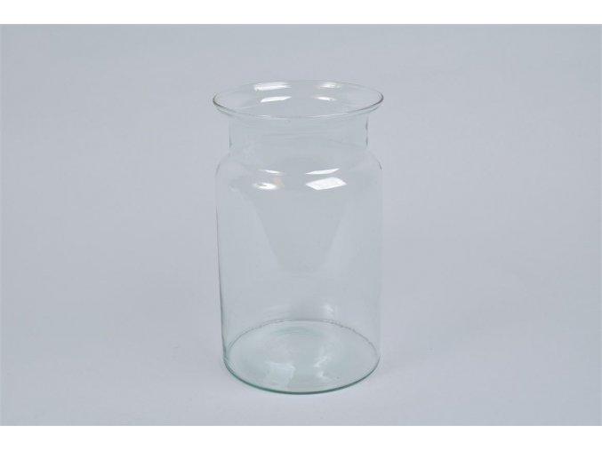 Gardners.cz Skleněná váza se zúženým otvorem výška 25 cm, průměr 15 cm