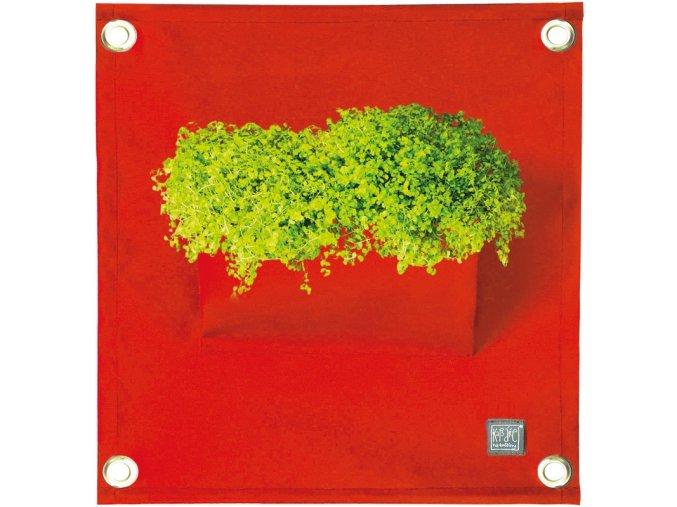Kapsář na rostliny THE GREEN POCKETS AMMA 50x45 cm, červená