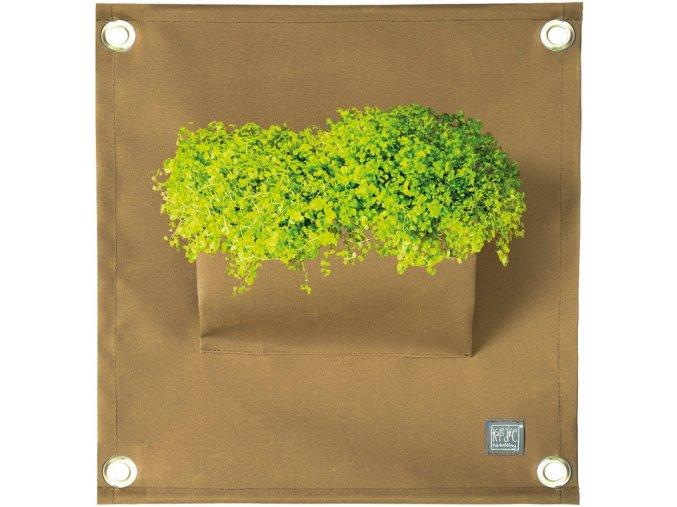 Kapsář na rostliny THE GREEN POCKETS AMMA 50x45 cm, okrová
