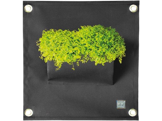 Kapsář na rostliny THE GREEN POCKETS AMMA 50x45 cm, černá