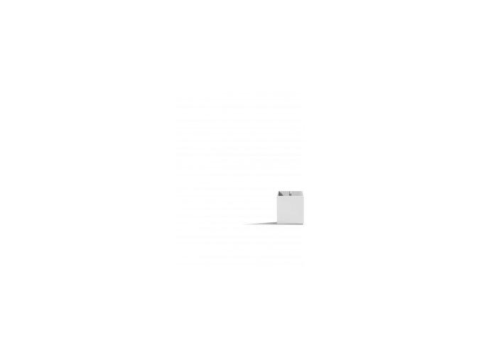 Magnetický květináč CUBE 3,5cm, světle šedivá