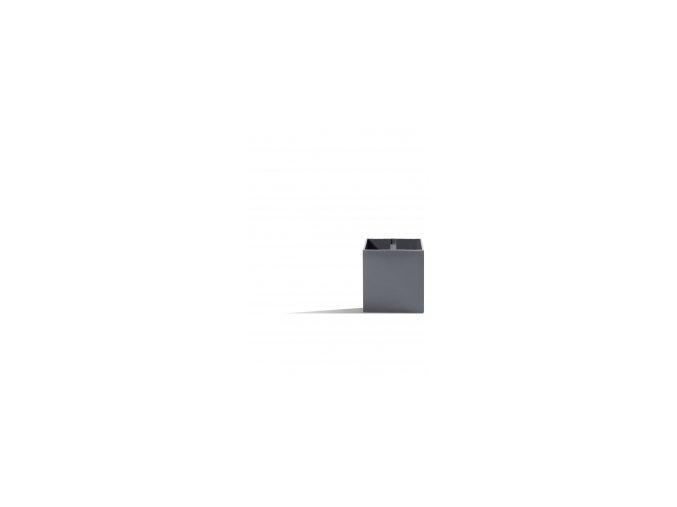 Magnetický květináč CUBE 6cm, tmavě šedivá