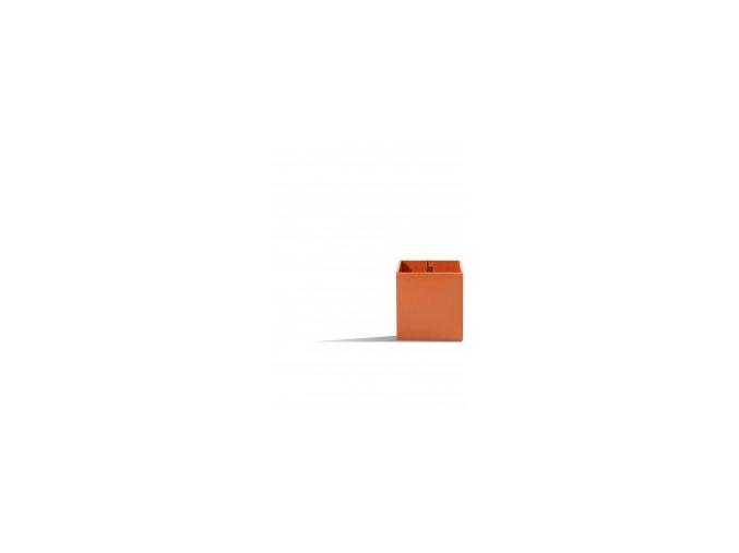 Magnetický květináč CUBE 6cm, oranžová