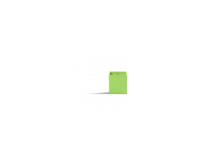 Magnetický květináč CUBE 6cm,světle zelená