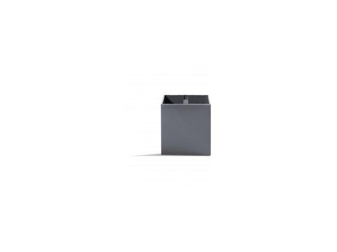 Magnetický květináč CUBE 9cm, tmavě šedivá