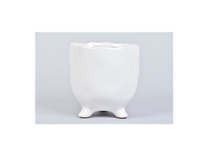 Gardners.cz Keramický květináč s nožičkami TOKIO 14 cm, bílá
